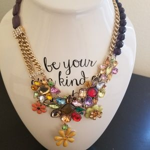 Jewelry - Rhinestone  and Gold Statement Necklace